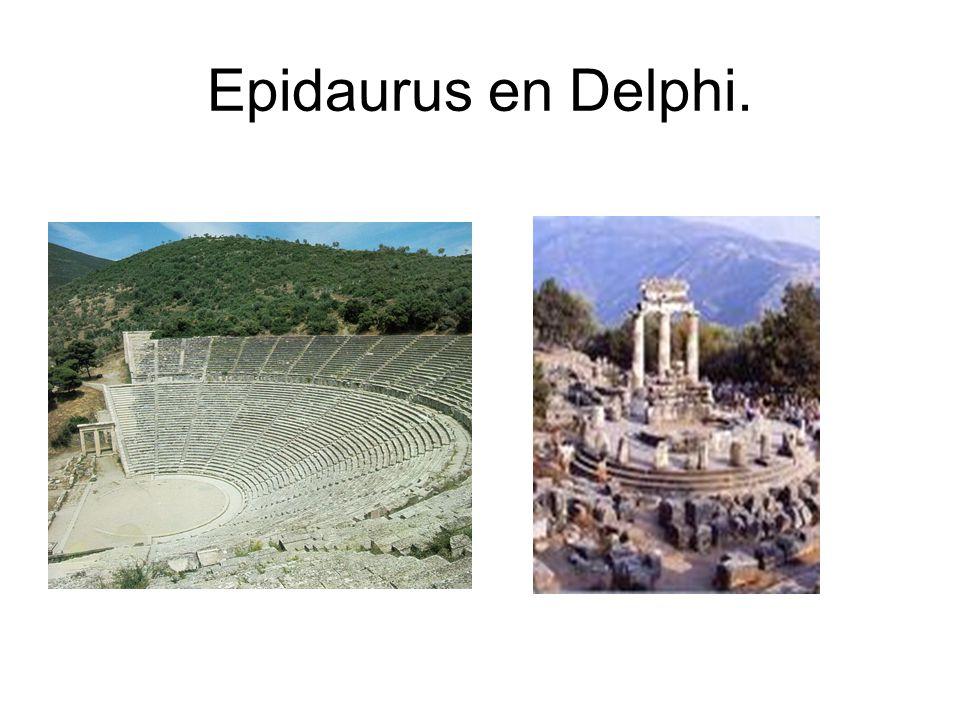 Epidaurus en Delphi.