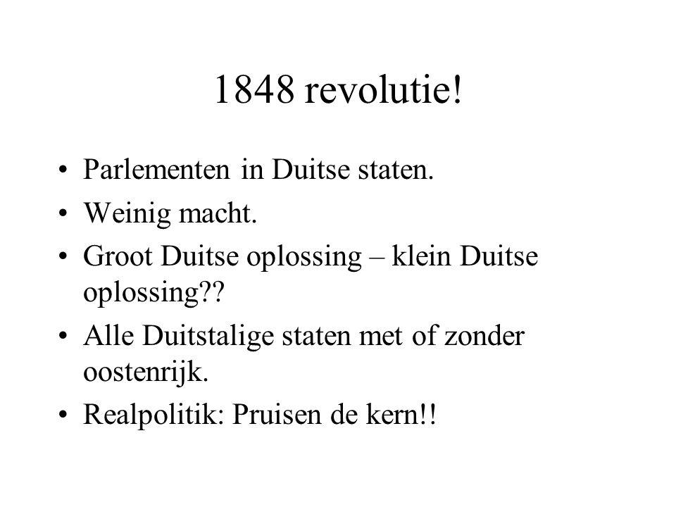 1848 revolutie.Parlementen in Duitse staten. Weinig macht.
