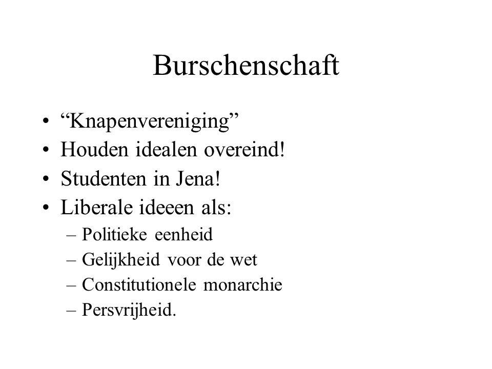 Burschenschaft Knapenvereniging Houden idealen overeind.