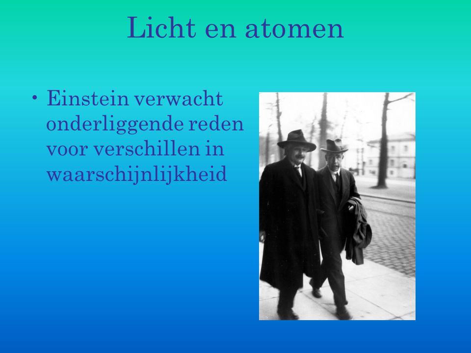 Licht en atomen Heisenberg (1901 – 1976), student bij Max Born (1882– 1970), vindt vergelijkingen om atoommodel te beschrijven.