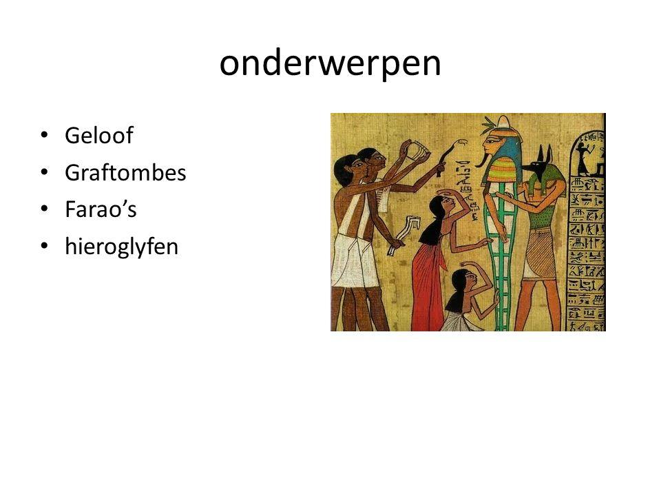 godsdienst Natuurgodsdienst -Horus (valkgod) - Anubis (jakhals) -Osiris (wederopstanding en vruchtbaarheid)