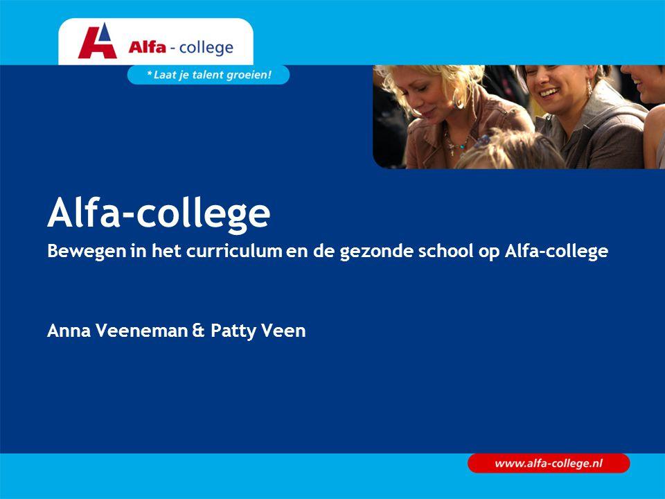 Alfa-college Bewegen in het curriculum en de gezonde school op Alfa-college Anna Veeneman & Patty Veen
