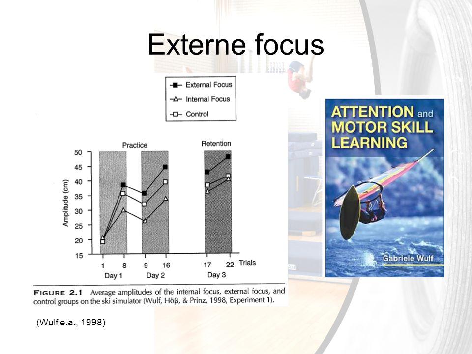 Externe focus (Wulf e.a., 1998)