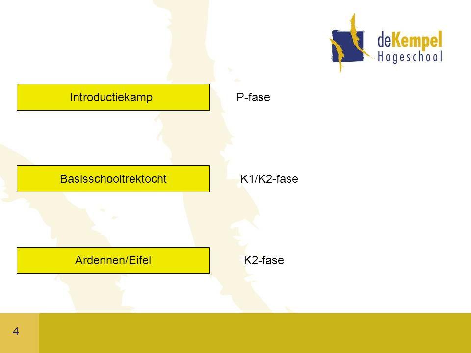 4 Introductiekamp Basisschooltrektocht Ardennen/Eifel P-fase K1/K2-fase K2-fase