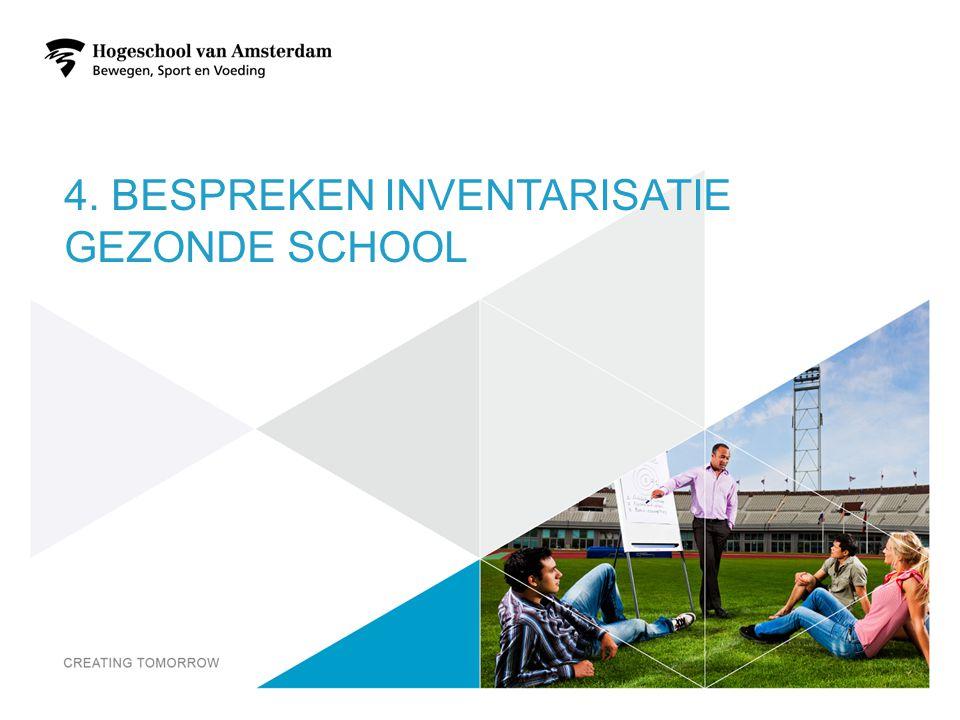 4. BESPREKEN INVENTARISATIE GEZONDE SCHOOL 18