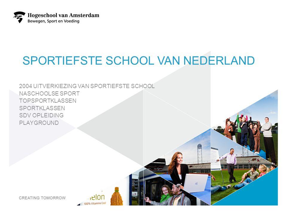 SPORTIEFSTE SCHOOL VAN NEDERLAND 2004 UITVERKIEZING VAN SPORTIEFSTE SCHOOL NASCHOOLSE SPORT TOPSPORTKLASSEN SPORTKLASSEN SDV OPLEIDING PLAYGROUND 20