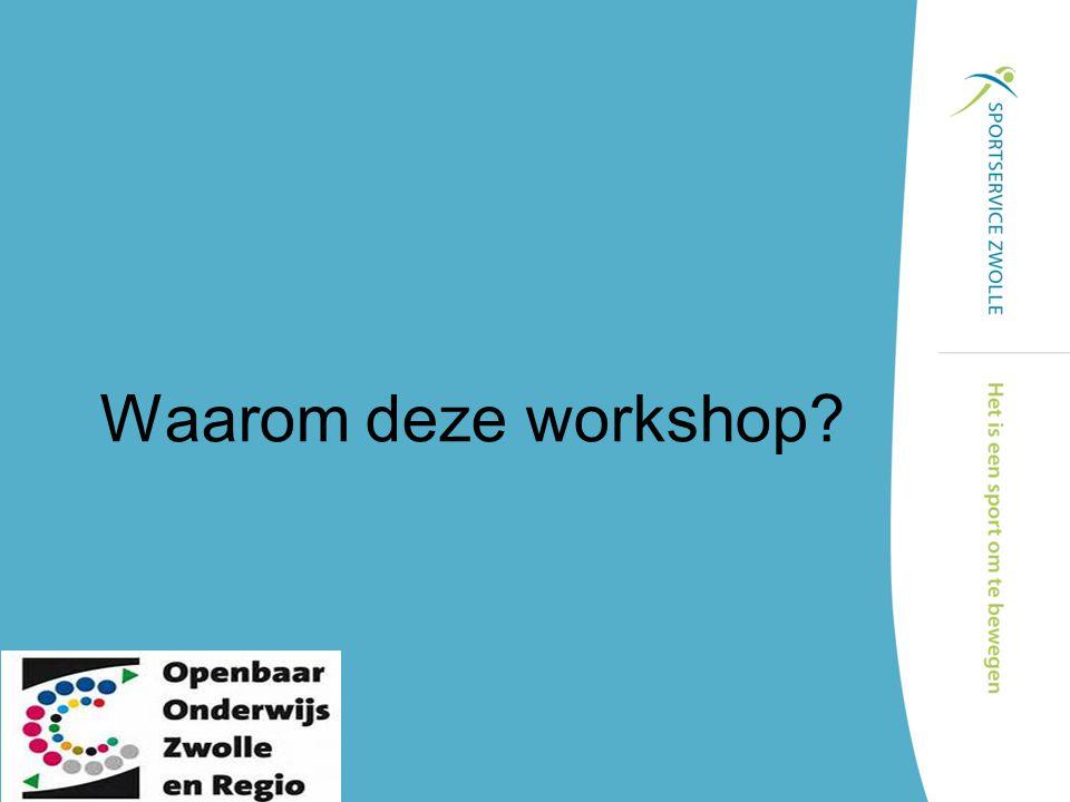 Waarom deze workshop?