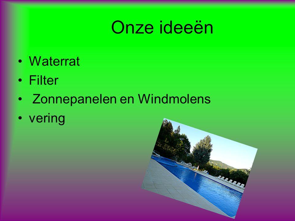 1 e idee Waterrad: we willen aan de zijkanten van het bad waterradjes plaatsen.