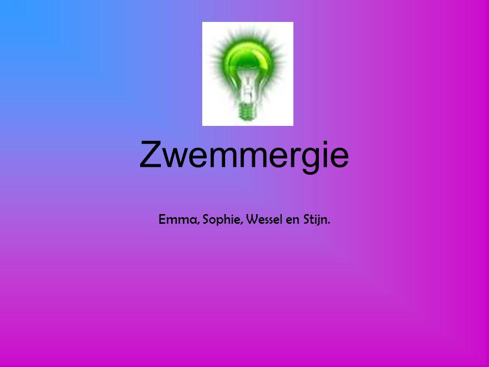 Zwemmergie Emma, Sophie, Wessel en Stijn.