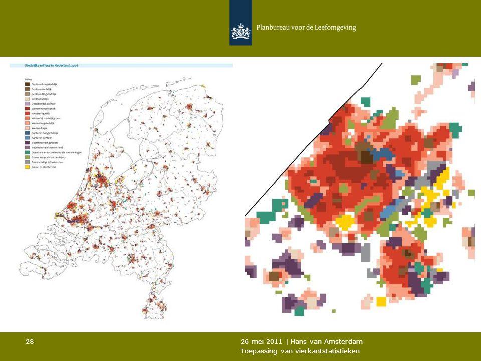 26 mei 2011 | Hans van Amsterdam Toepassing van vierkantstatistieken 28