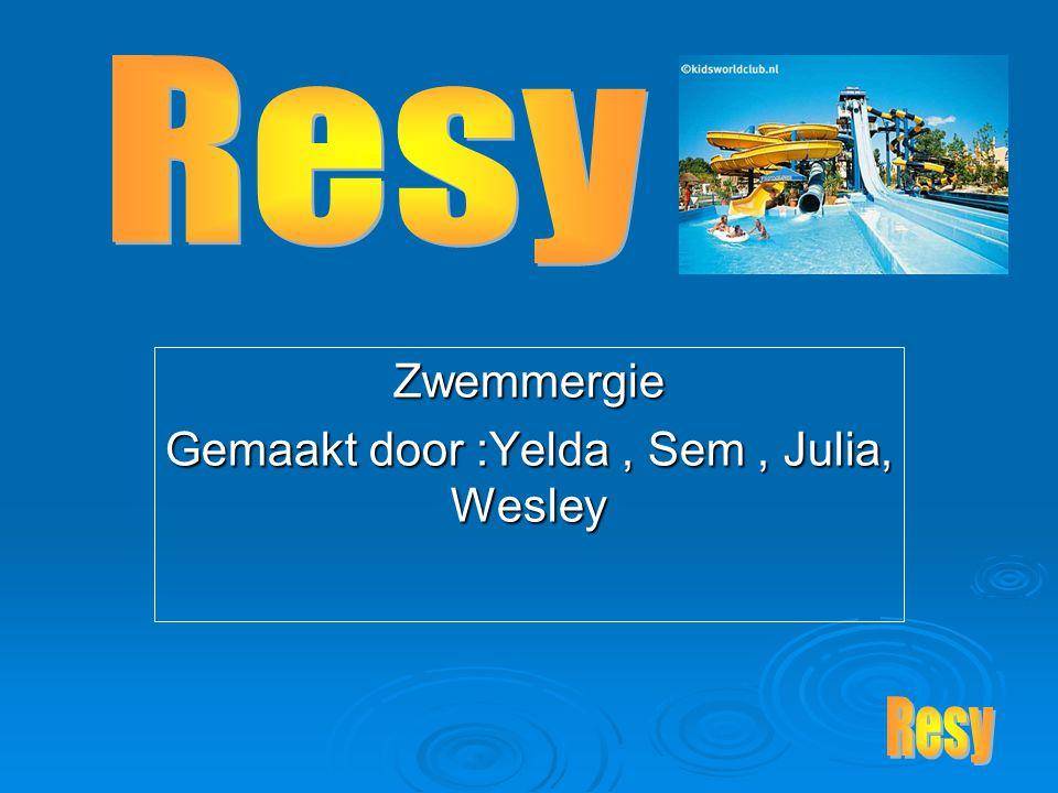 Zwemmergie Gemaakt door :Yelda, Sem, Julia, Wesley
