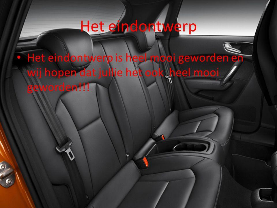 Wat maakt het nou zo leuk? Je kunt nu als je ergens naar toe gaat, in de auto liggen en het is natuurlijk veilig.