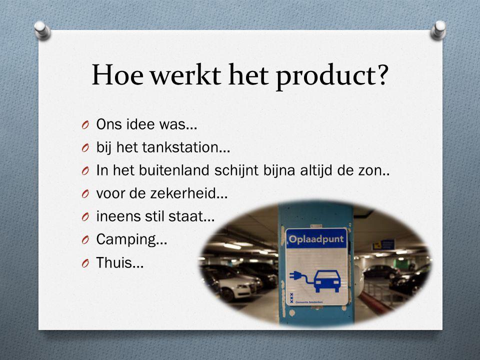 Hoe werkt het product.