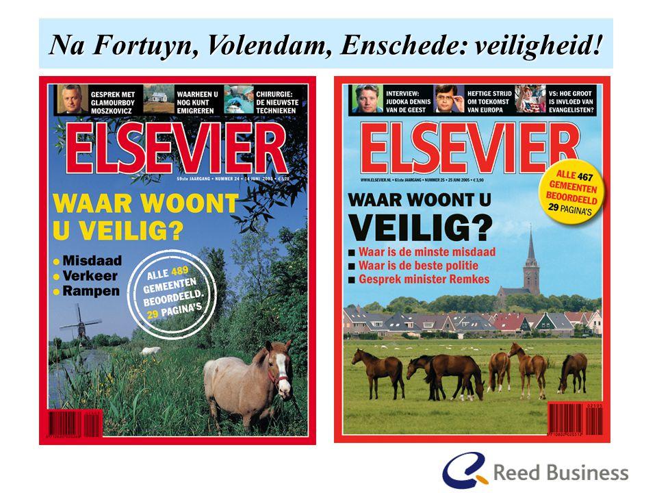 En hoe het begon Na Fortuyn, Volendam, Enschede: veiligheid.