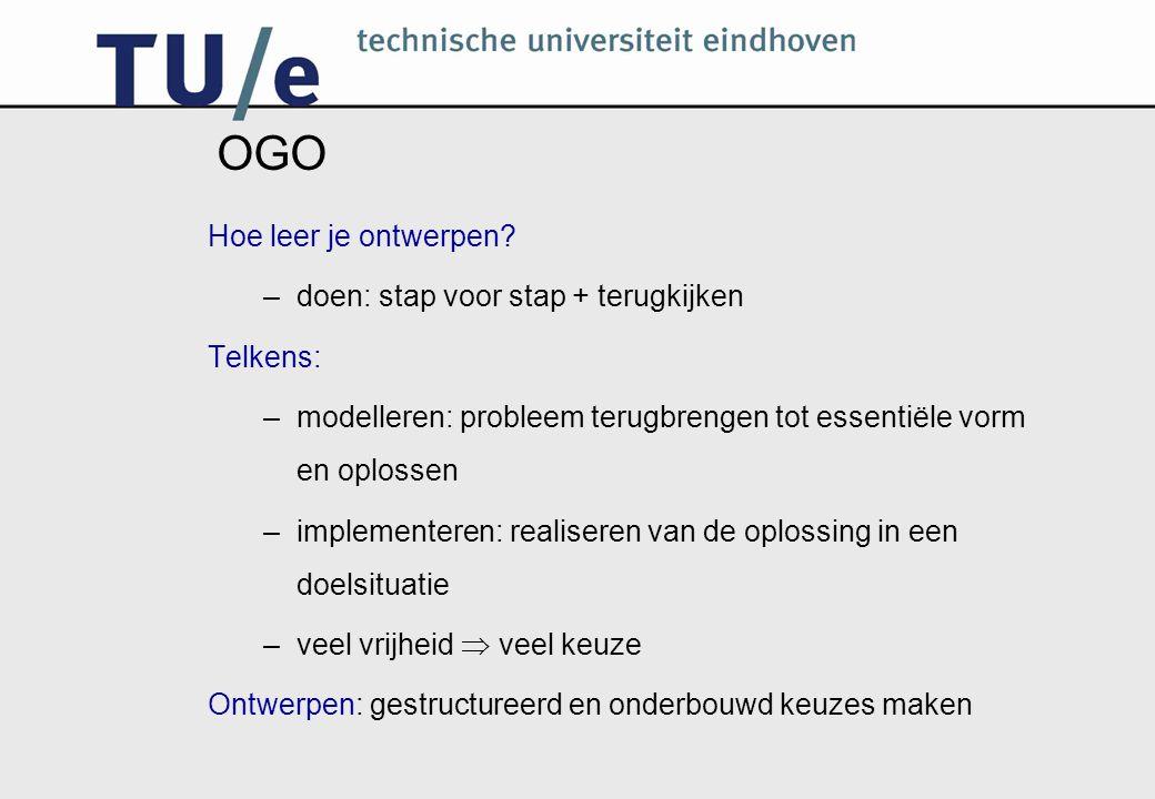OGO Kenmerken : Professionaliserend Activerend Samenwerkend Scheppend Integrerend Multidisciplinair