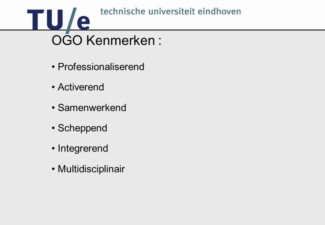 OGO opbouw: Eerste jaar 1.1:Specificatie 1.2: Systeemontwikkeling: Van model tot systeem 1.3: Besturing