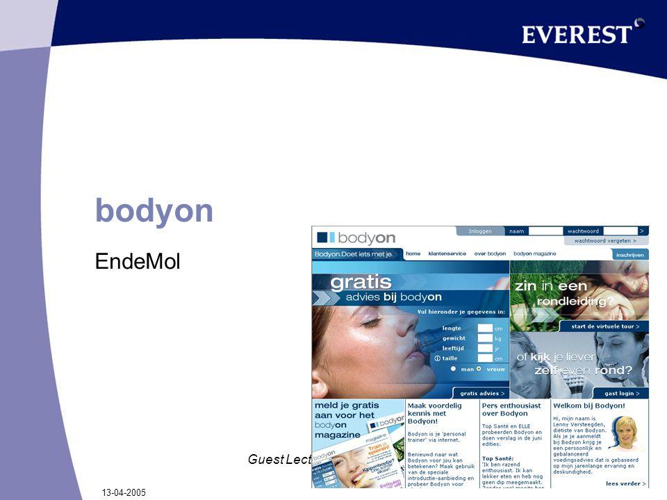 13-04-2005 Guest Lecture TUE bodyon EndeMol
