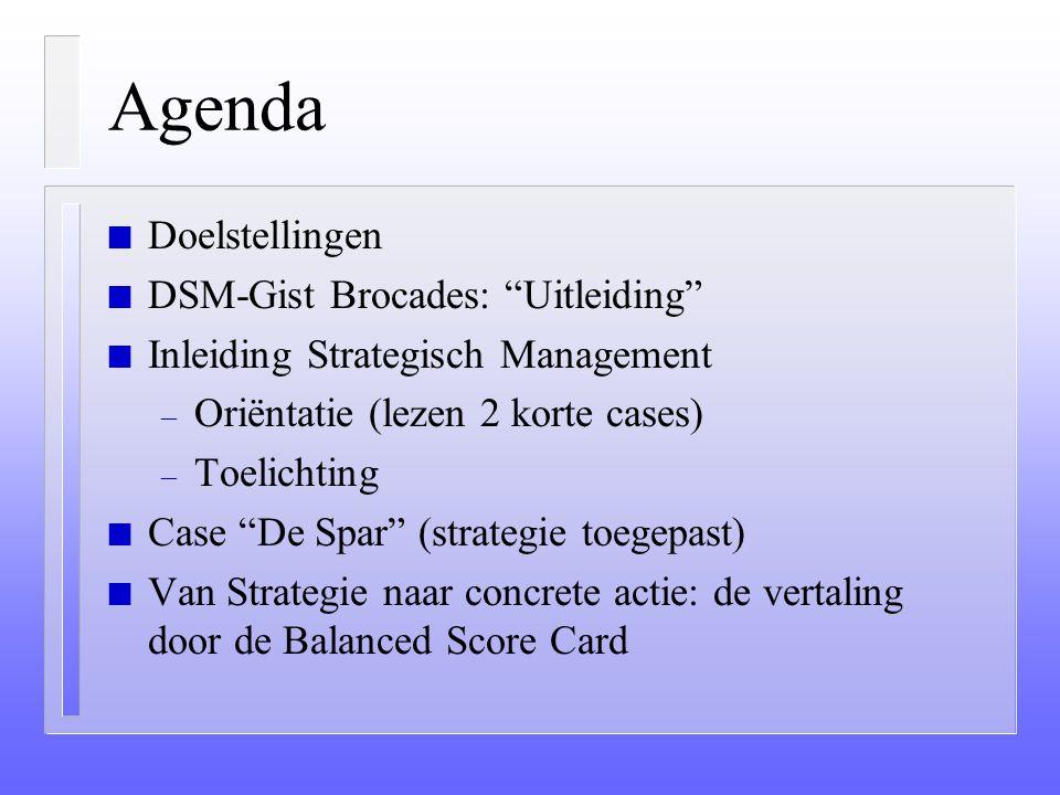 Strategisch Management W.M. Egberink 15 december 2000