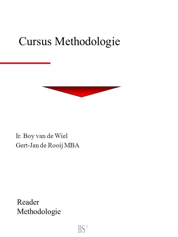 Cursus Methodologie Ir. Boy van de Wiel Gert-Jan de Rooij MBA Reader Methodologie