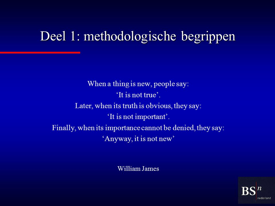 Deel 2: fasering van een onderzoeksproject Theory is where you know everything and nothing works.