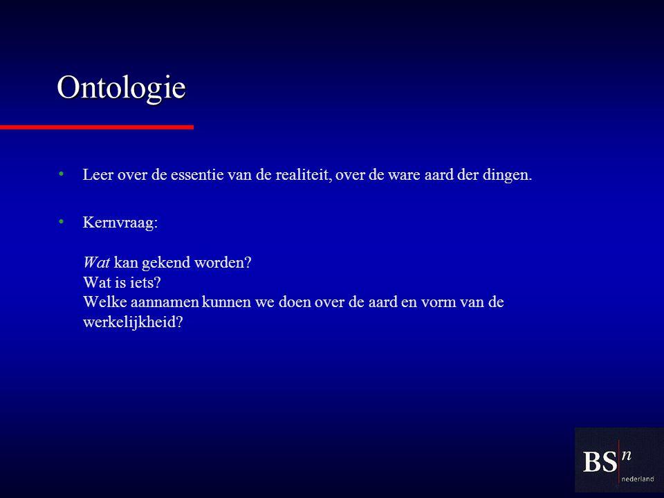 Epistemologie Wetenschap van de wetenschap.