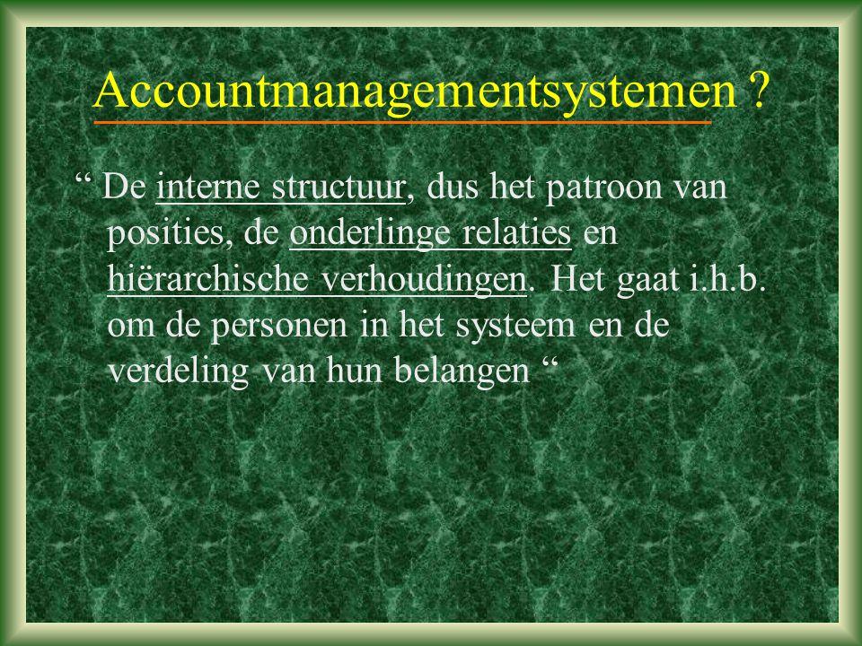 Accountmanagementsystemen .