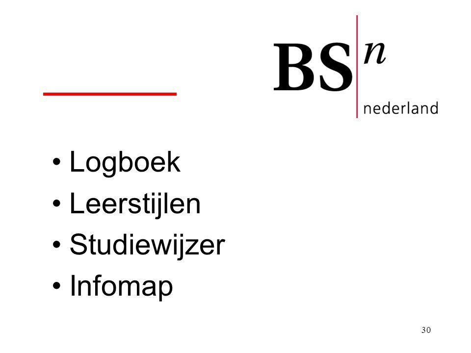 30 Logboek Leerstijlen Studiewijzer Infomap
