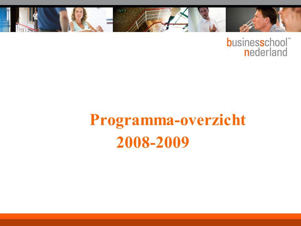 Programma-overzicht 2008-2009