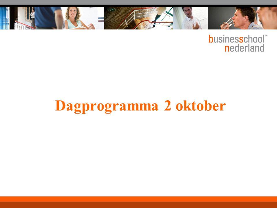 Dagprogramma 2 oktober