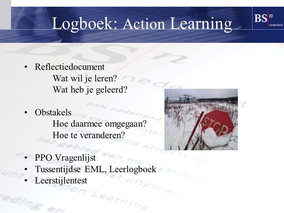 Logboek: Action Learning Reflectiedocument Wat wil je leren.