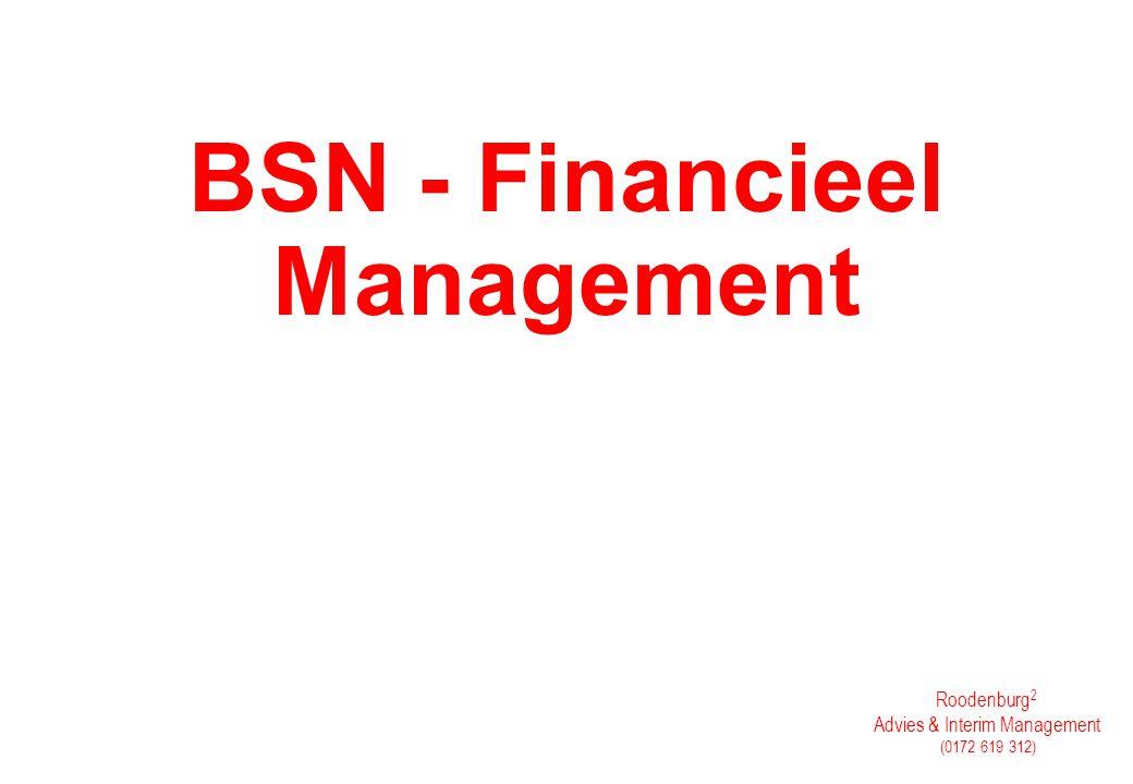 Roodenburg 2 Advies & Interim Management (0172 619 312) BSN - Financieel Management