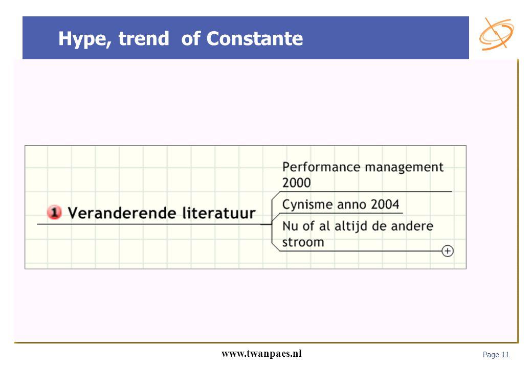 Page 11 www.twanpaes.nl Hype, trend of Constante