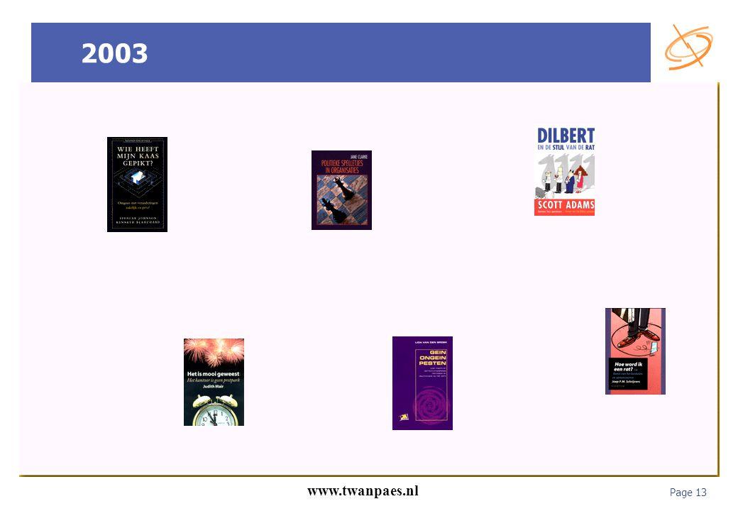 Page 13 www.twanpaes.nl 2003
