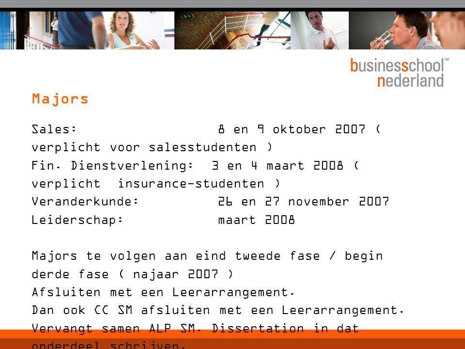 Sales: 8 en 9 oktober 2007 ( verplicht voor salesstudenten ) Fin.