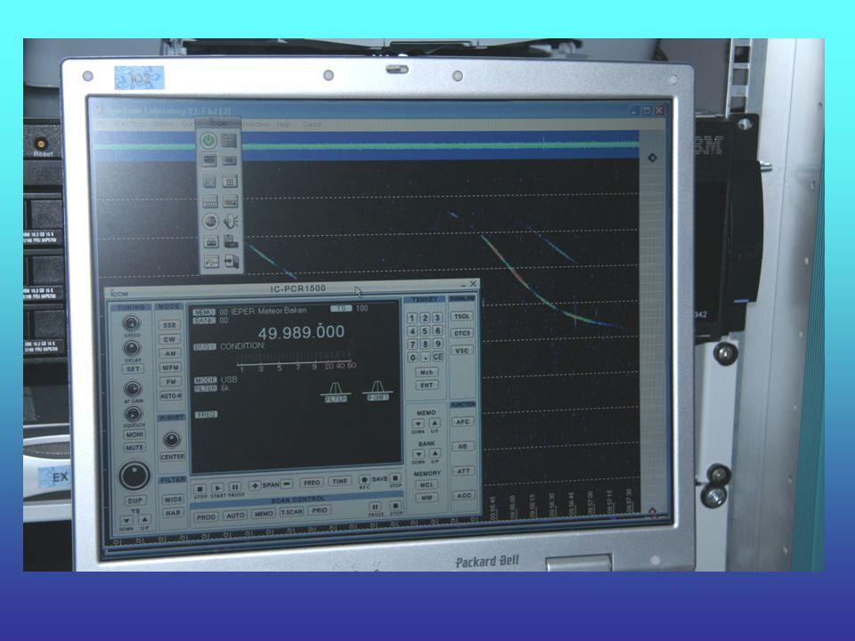 De Software Voor de ontvanger wordt de bijgeleverde software gebruikt. Voor de analyse van het ontvangen geluid wordt Spectrum Lab gebruikt.