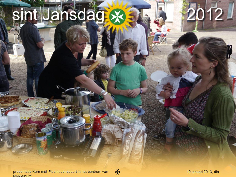 16 presentatie Kern met Pit sint Jansbuurt in het centrum van Middelburg 19 januari 2013, dia burendag 2012