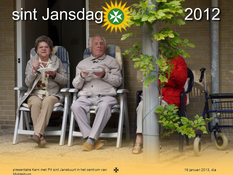 17 presentatie Kern met Pit sint Jansbuurt in het centrum van Middelburg 19 januari 2013, dia burendag 2012