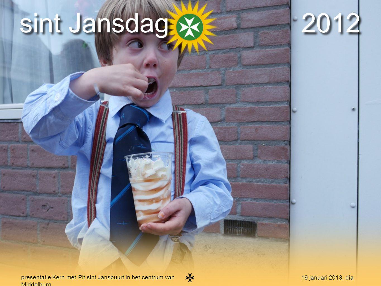 7 presentatie Kern met Pit sint Jansbuurt in het centrum van Middelburg 19 januari 2013, dia sint Jansdag 2012