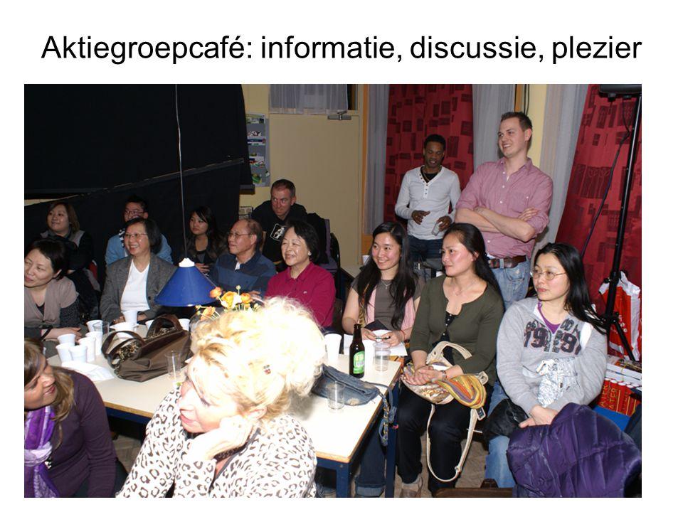 Aktiegroepcafé: informatie, discussie, plezier