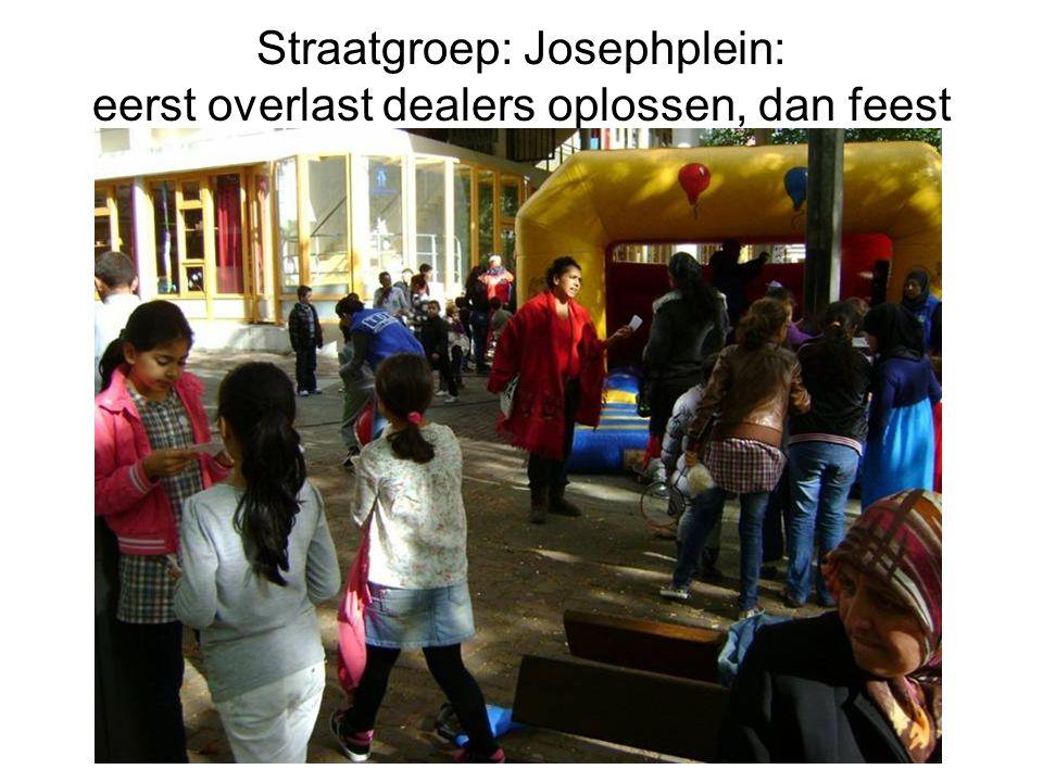 Straatgroep: Josephplein: eerst overlast dealers oplossen, dan feest