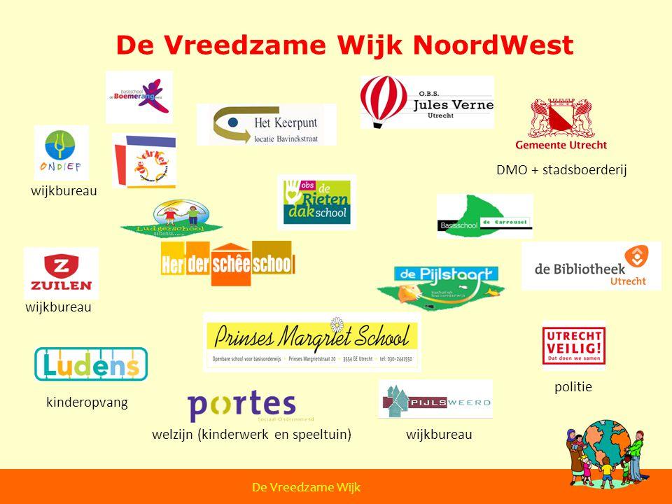 De Vreedzame Wijk NoordWest kinderopvang welzijn (kinderwerk en speeltuin) politie wijkbureau De Vreedzame Wijk DMO + stadsboerderij