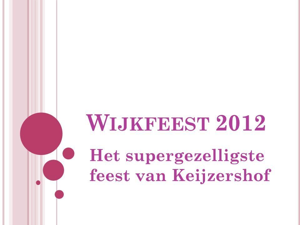 W IJKFEEST 2012 Het supergezelligste feest van Keijzershof