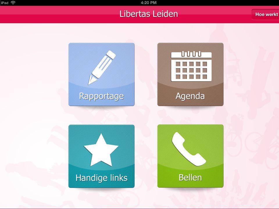 15-4-, Naam Medewerker Zelfregie app -Samenwerking Libertas -Doel: Versterken regie thuiszorgpatiënt -App: iPad en iPhone