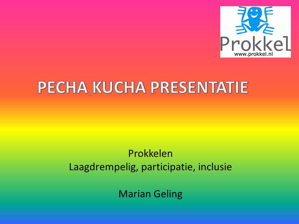 Prokkelen Laagdrempelig, participatie, inclusie Marian Geling