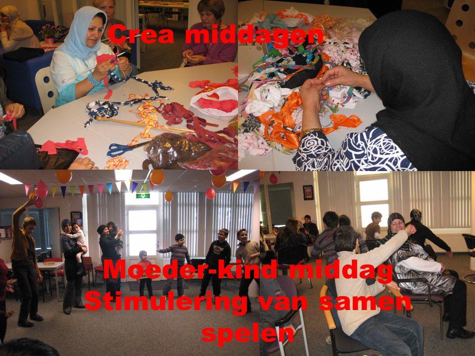 Crea middagen Moeder-kind middag Stimulering van samen spelen