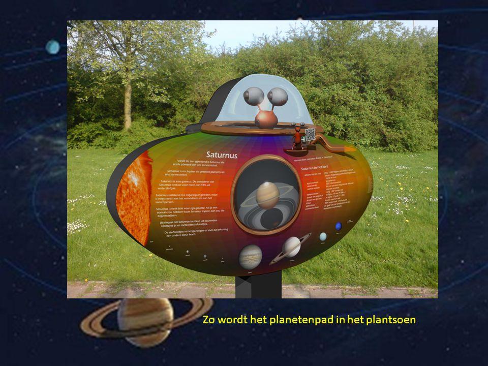 Zo wordt het planetenpad in het plantsoen