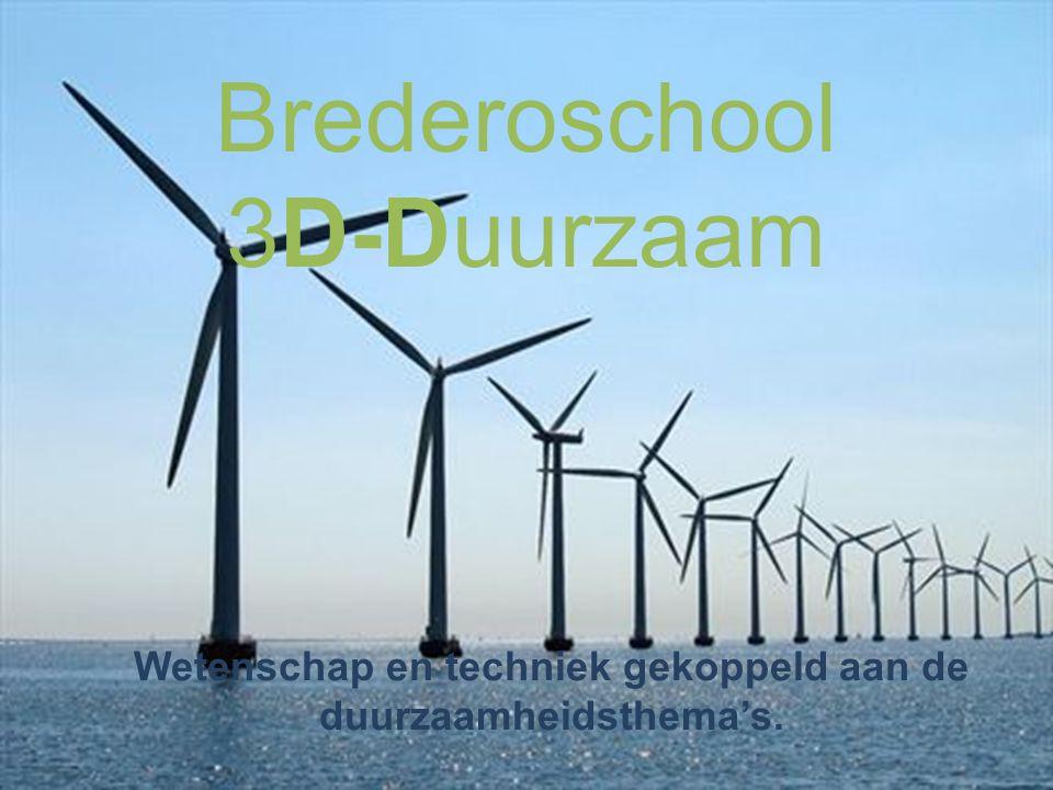 Brederoschool 3D-Duurzaam Wetenschap en techniek gekoppeld aan de duurzaamheidsthema's.