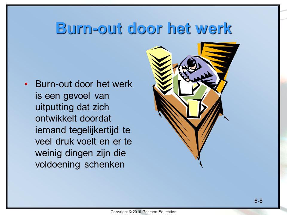 6-9 Copyright © 2010 Pearson Education Omgekeerd U-verband tussen stress en werkprestaties