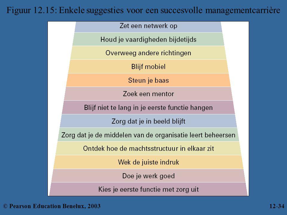 Figuur 12.15: Enkele suggesties voor een succesvolle managementcarrière © Pearson Education Benelux, 200312-34