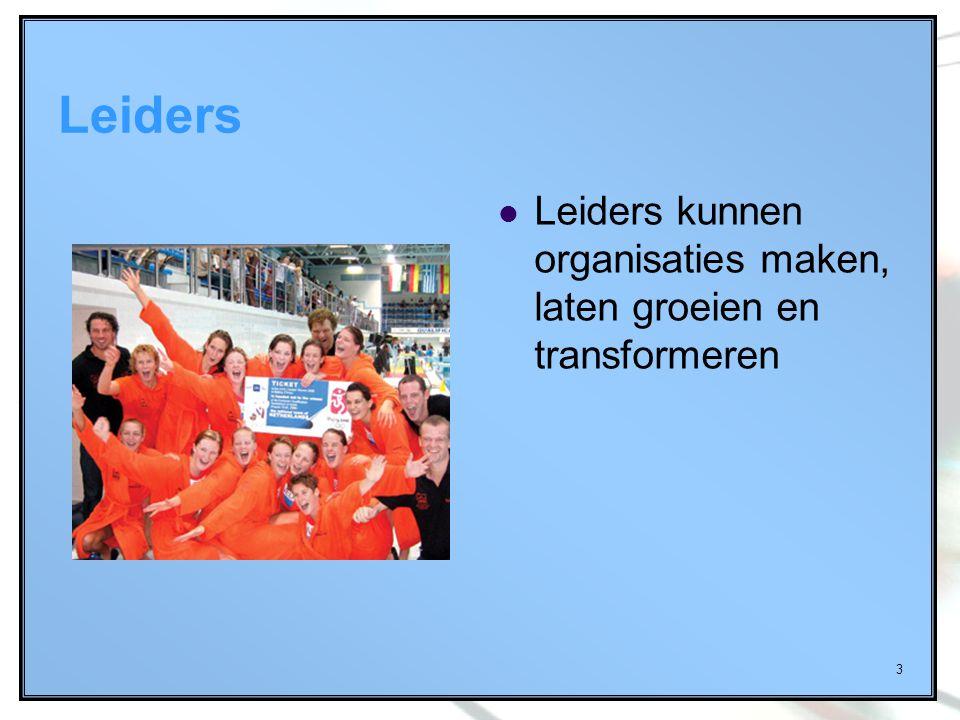 3 Leiders Leiders kunnen organisaties maken, laten groeien en transformeren